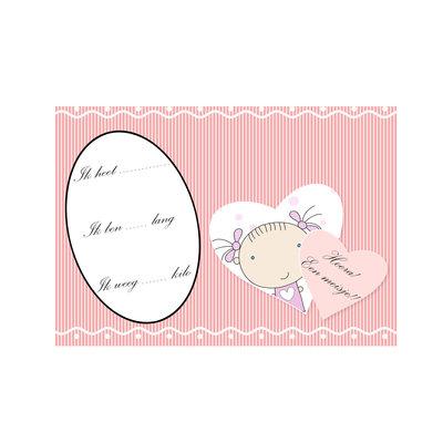 Geboorte kaart, Meisje