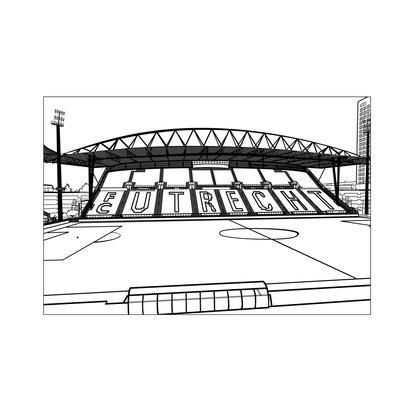Pentekening stadion FC Utrecht