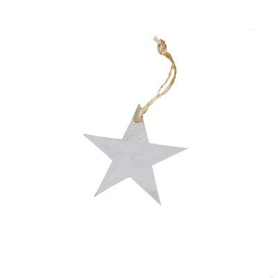 Houten decoratiehanger ster