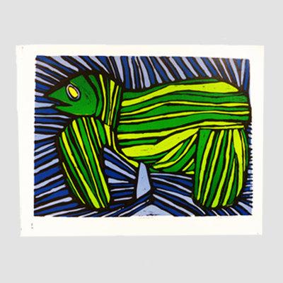 'Zeeschildpad' van Derk Wessels 58x41 cm