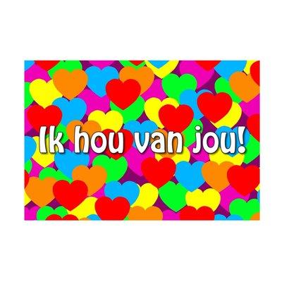 Kaart ''ik hou van jou''