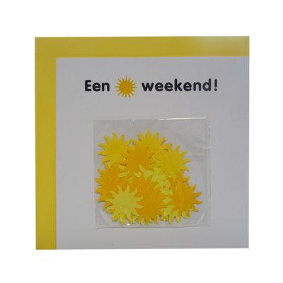 """Confettikaart """"een zonnig weekend"""""""