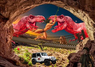 Dinoland 70x50 cm