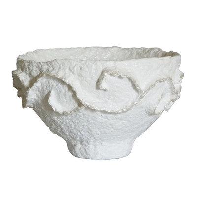Schaaltjes in wit en oranje ø 24x cm