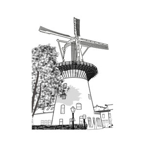 Pentekening Molen Utrecht