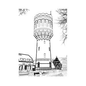 Pentekening Watertoren Utrecht