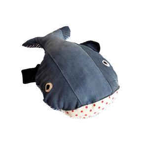 Grote walvis van spijkerstof